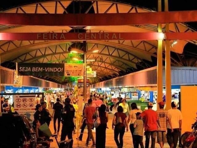 Entrada da Feira Central de Campo Grande. Local recebe o Festival do Sobá. (Foto: Arquivo).