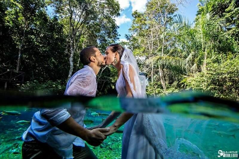 As fotos foram feitas dentro e fora d'água. (Foto: Guilherme Molento)