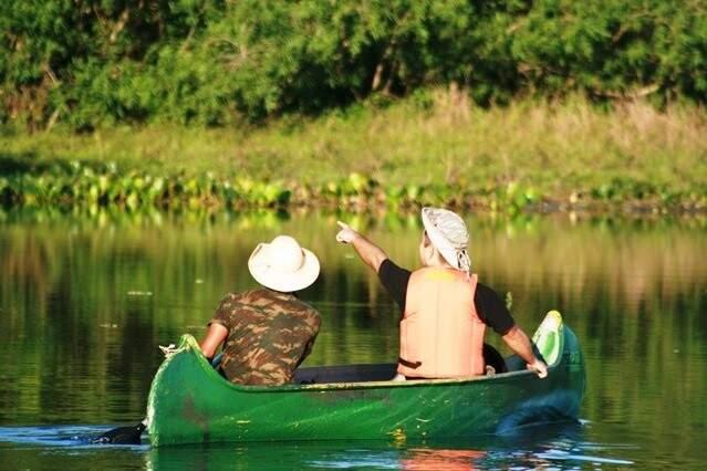 Canoagem, uma das atividades da fazenda. (Foto: Carol Coelho)