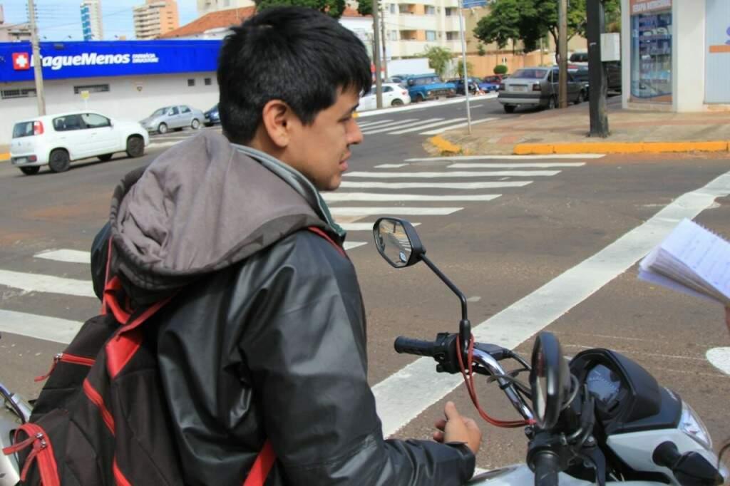 """"""" Estando ali na frente, saímos primeiro"""", afirma Eduardo. (Foto: Marina Pacheco)"""