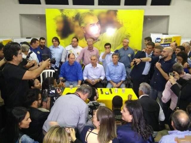 Governador Reinaldo Azambuja (PSDB) terá maior coligação para tentar a reeleição (Foto: Fernando Antunes)