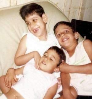 As lembranças que ficaram em fotos: Fabiana com os irmãos Lucas e Gabriela.