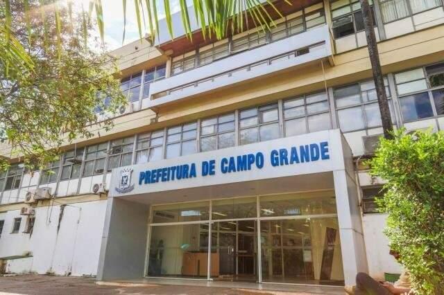 Paço Municipal de Campo Grande. Prefeito sancionou cinco novas leis. (Foto: Fernando Antunes Arquivo)