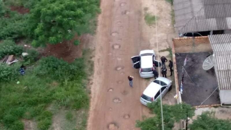 Operação contra tráfico acontece nesta terça-feira em Santa Catarina e MS. (Foto: Serviço Aeropolicial (SAER)/Polícia Civil )