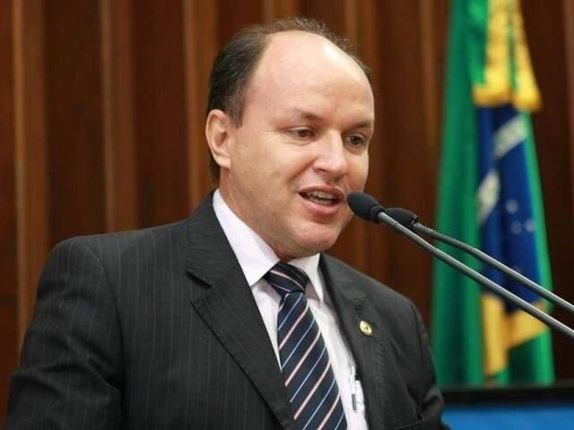 Júnior Mocchi durante sessão na Assembleia Legislativa. (Foto: Divulgação/ALMS)