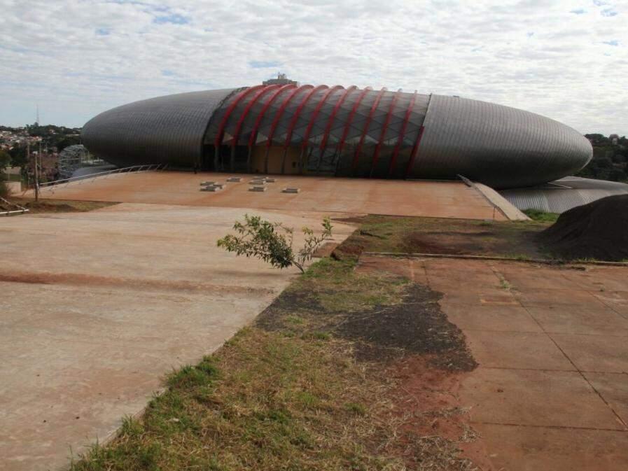 Obra do Aquário do Pantanal. (Foto: Marcos Ermínio)