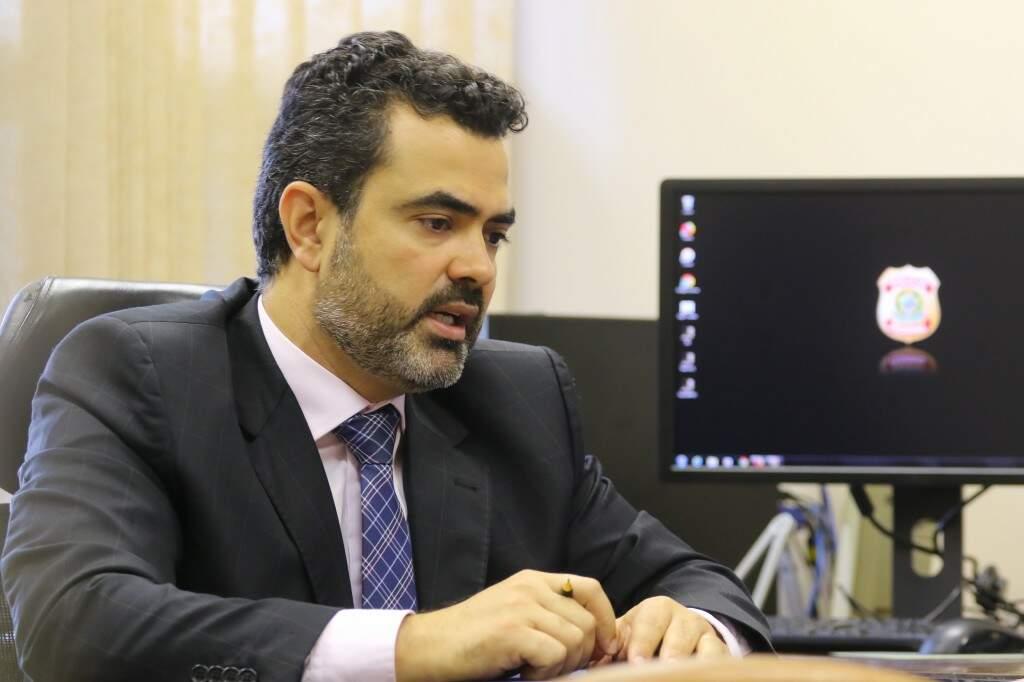 Luciano Flores toma posse amanhã como superintendente da Polícia Federal em MS. (Foto: André Bittar)
