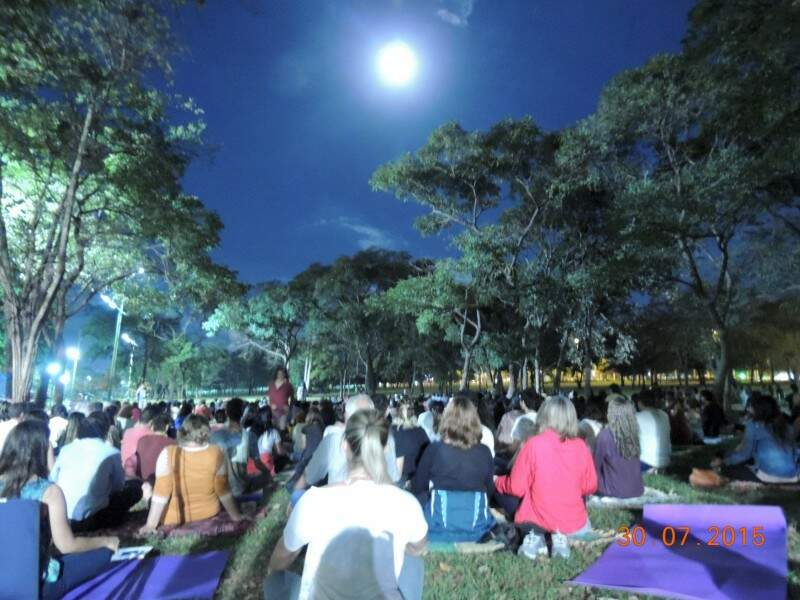 Lua contribuiu para deixar o ambiente especial (Foto: Veruska Galvão)