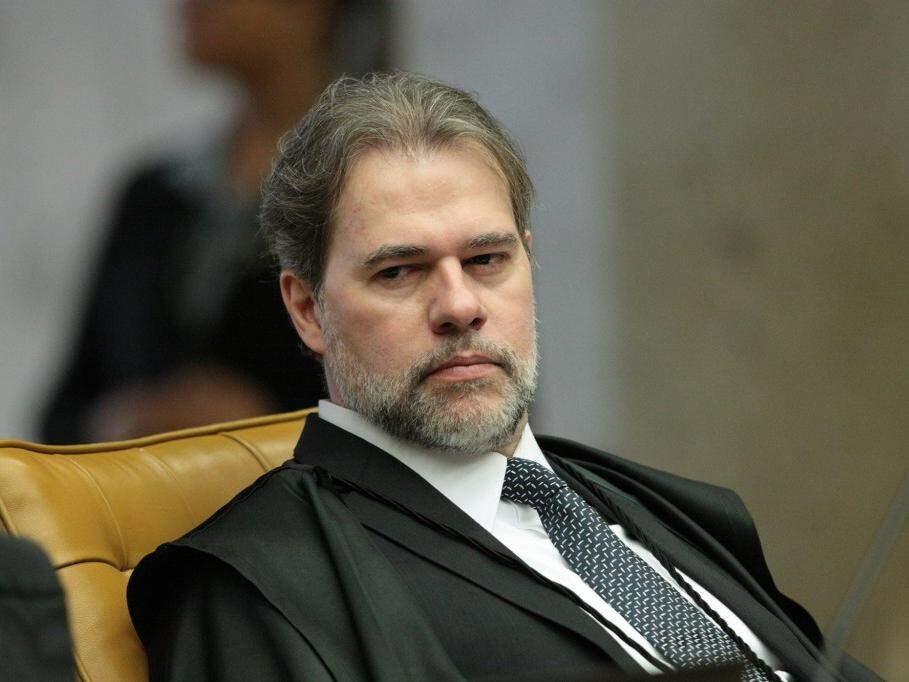 Ministro Dias Toffoli durante sessão plenária do STF (Foto: Carlos Moura/STF)