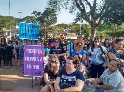 TJ nega recurso e professores fazem ato público e mantêm greve parcial