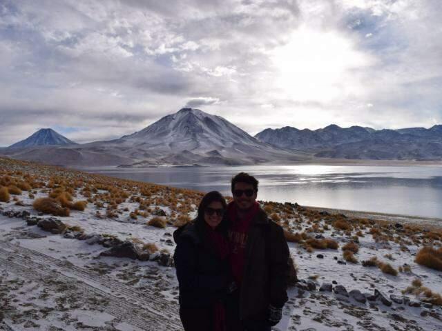 Isabela e Ande em uma das viagens juntos pela viagem no Chile. (Foto: Acervo Pessoal)