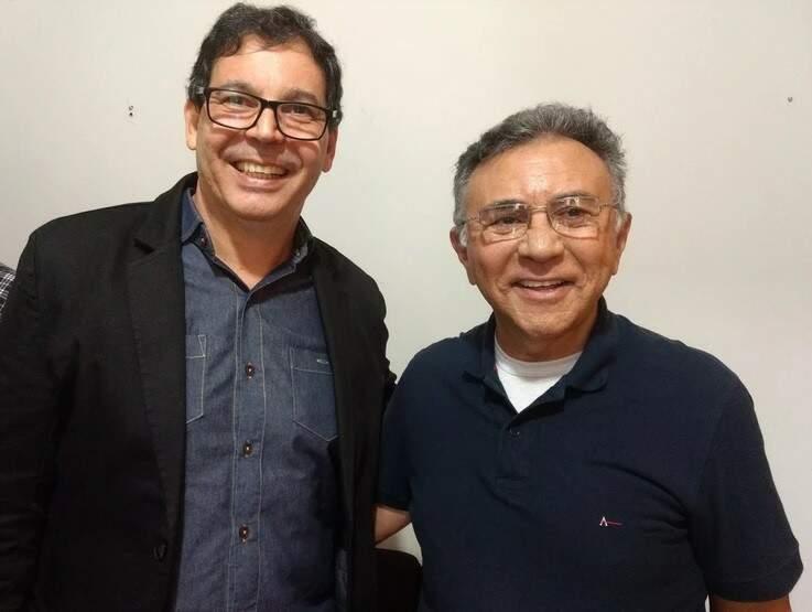 O bispo do PRB, Marcos Antonio Camargo Vitor, candidato a vice governador, e o candidato a governador juiz Odilon de Oliveira (Divulgação)