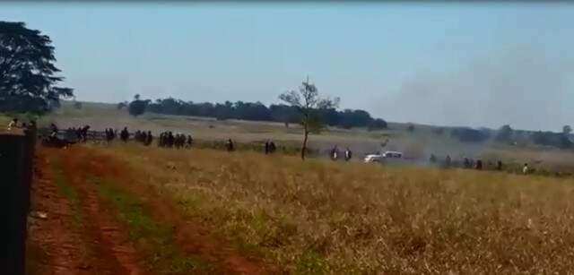 Área de confronto entre índios e produtores rurais em Caarapó (Imagem: Reprodução/Campanha Guarani).