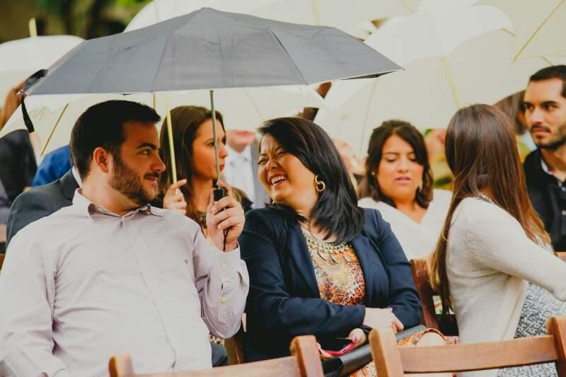 Celebração contagiou convidados, que entraram no clima. (Foto: Allan Kaiser)
