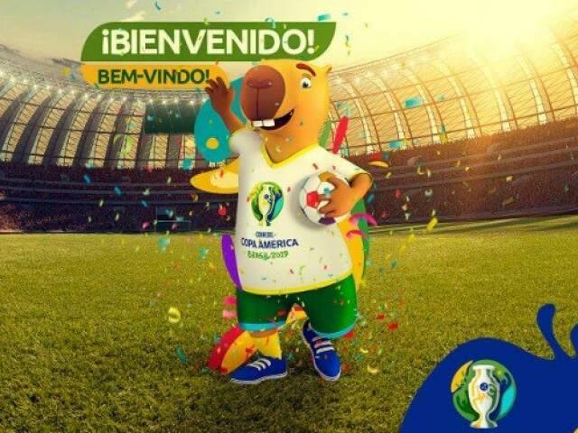 Capivara foi escolhida como mascote da Copa América (Foto: Reprodução/Twitter)