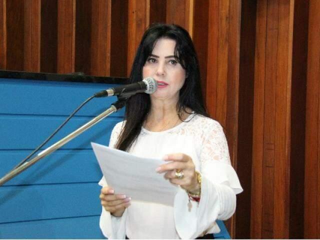 Deputada Mara Caseiro (PSDB) na Assembleia Legislativa. (Foto: Patrícia Mendes/ALMS)