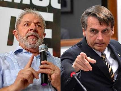 Pesquisa coloca Lula em 1º e Bolsonaro em 2º lugar na corrida presidencial