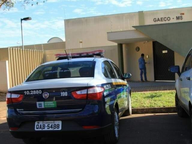 Cinco policiais prestaram depoimento ao Gaeco durante a tarde desta quarta-feira (Marina Pacheco)