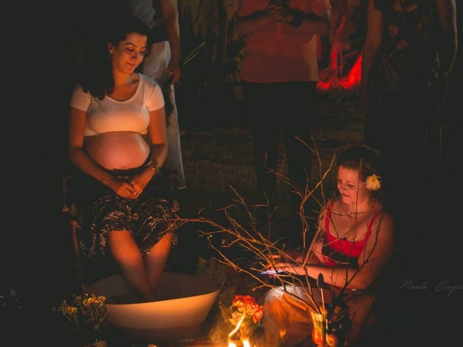 """""""Chá de Bênçãos"""", uma celebração para fortalecer e acolher as gestantes nesse momento que antecede a chegada de uma nova vida. (Foto: Paula Cayres)"""
