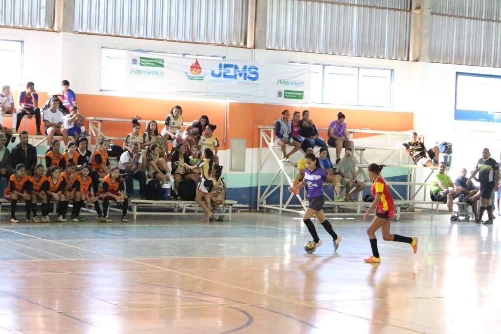 Futsal feminino, uma das atrações dos JEMS 2017 em Campo Grande (Foto: Fundesporte/Divulgação)