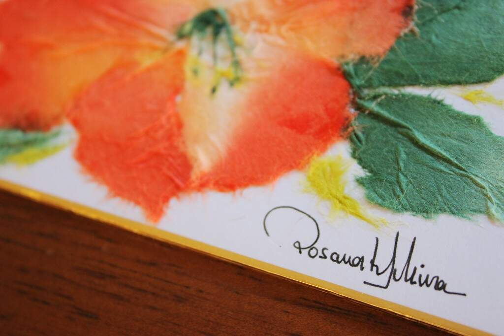 O papel tem uma textura delicada e macia.  (Foto: Gustavo Arakaki)