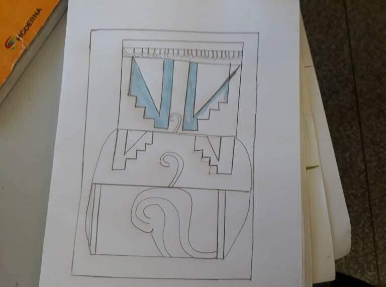 Desenhos feitos pelos alunos de Patrícia. (foto: Acervo Pessoal)
