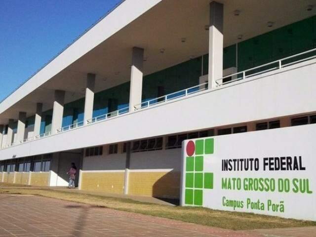Bloco do IFMS na unidade de Corumbá. (Foto: AlertaConcursos)