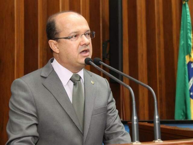 Deputado José Carlos Barbosa (DEM) fez discurso como novo líder do governo (Foto: Assessoria/ALMS)