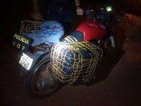 DOF apreende 109 quilos de maconha acomodados em motocicleta