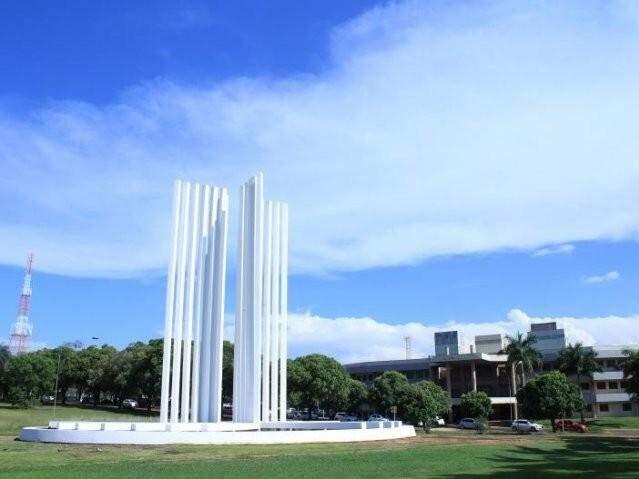Sede da UFMS, em Campo Grande, onde sera realizada Tarde Lilás para servidoras. (Foto: Marina Pacheco/Arquivo)