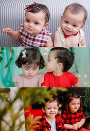 Fotos mostra ensaio de bebês gêmeos e seu desenvolvimento (Foto: Sarah Garcia)
