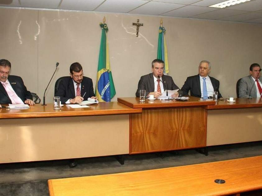 Membro da CPI durante reunião ordinária na tarde desta quarta-feira (30). (Foto: Divulgação)