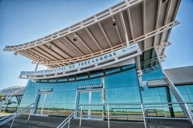 Aeroporto da cidade terá dois voos diários para SP. (Foto: Prefeitura de Três Lagoas)