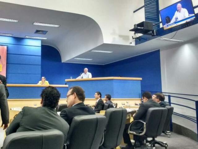 Câmara Municipal de Campo Grande na sessão desta terça-feira, dia 10. (Foto: Mayara Bueno).