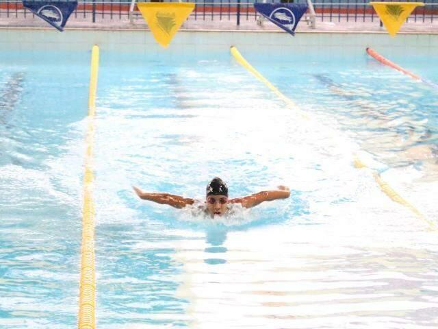 Competições de natação serão realizadas no Rádio Clube Cidade, em Campo Grande (Foto: Divulgação)