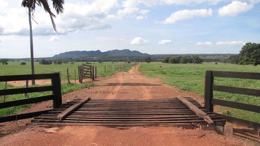 Estrada de acesso para a Colônia Paredes, caminho para o Morro do Padre (Foto: Engmguerra/Marcos Guerra)