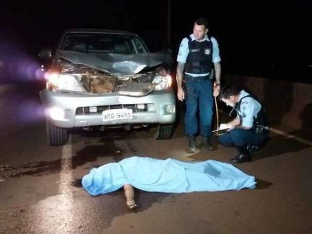 Vítima morreu antes da chegada dos bombeiros. (Foto: Reprodução/DouradosNews)
