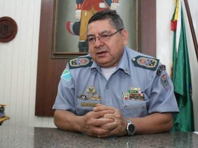Comandante geral da PM em MS, o coronel Waldir Ribeiro Acosta (Foto: Paulo Francis/Arquivo)