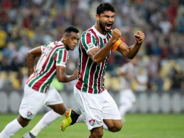 O zagueiro Gum foi quem garantiu a vitória do Flu. (Foto: FluminenseFC)