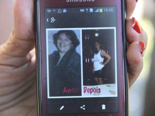 O antes e o depois da dona de casa. (Foto: Marcos Ermínio)