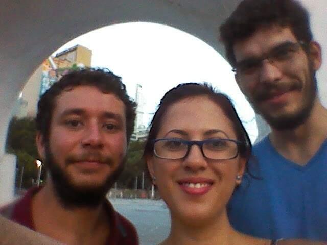 Eu, Marinez, e Giuli quando nos encontramos no Rio de Janeiro, no início do ano passado
