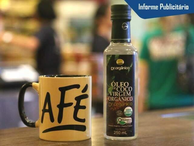 Na Grão & Grão você compra o óleo (R$ 42,90) e até a caneca para o preparo. (Foto: Fernando Antunes)