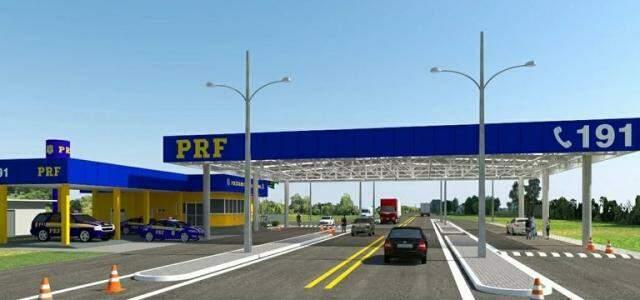 Posto da PRF terá estrutura moderna e cobrirá as laterais da rodovia (Foto: Divulgação)