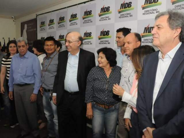 Dirigentes garantiram a Meirelles os 23 votos do MDB estadual na convenção que definirá candidatura do partido ao Planalto