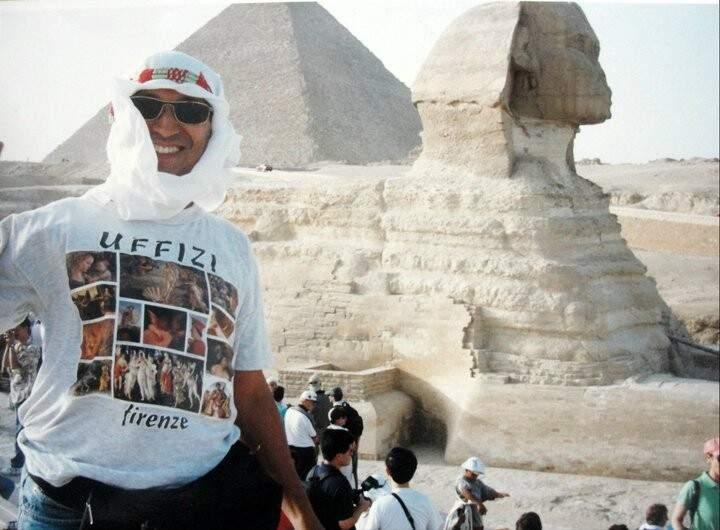 Lembranças da primeira vez no Egito. (Foto: Arquivo Pessoal)