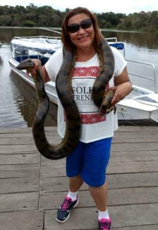 Viagem que fez para Manaus e encontrou uma cobra (Arquivo pessoal)