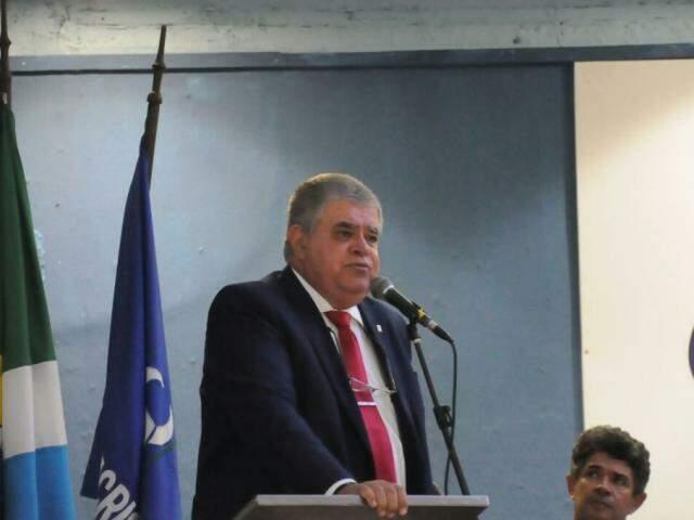 Sem mencionar o Governo, Marun se reservou apenas opinião pessoal, durante a fala desta noite. (Foto: Paulo Francis)