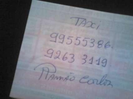 Propaganda escrita à mão retribui gentileza de taxista que não cobrou corrida
