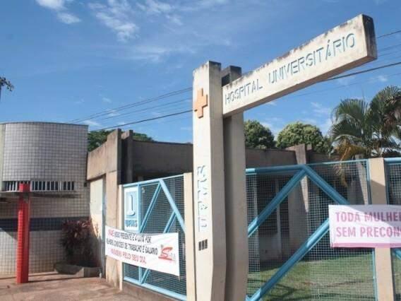 Hospital Universitário Maria Aparecida Pedrossian, em Campo Grande. (Foto: Marcos Ermínio/Arquivo)