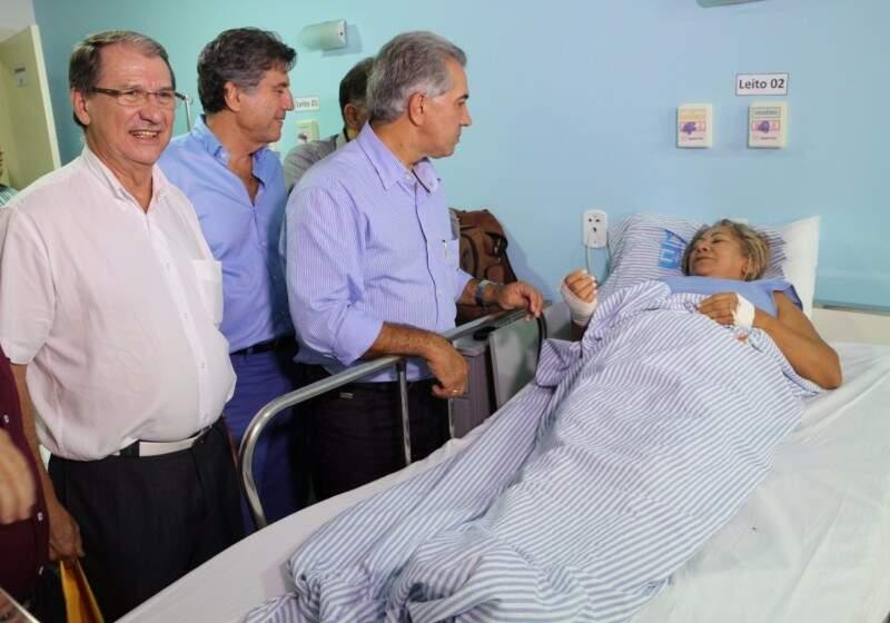 Reinaldo na inauguração do hospital, em dezembro (Foto: Eliel Oliveira)